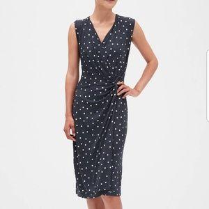 Banana Republic Polka Dot Faux Wrap Dress 2019